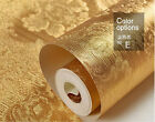 3D Luxury Gold Textured Pattern Wallpaper Rolls Foil Embossed Feature Home Decor