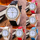 Womens Watches Candy Color Band Quartz Watch Leather Band Analog Wrist Watch image