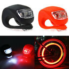 1LED SILICONE MOUNTAIN BIKE BICYCLE FRONT REAR LIGHTS SET PUSH CYCLE LIGHT CLIP