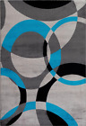 1011 Turquoise Abstract Area Rug