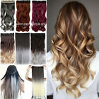 """Hair Extensions Real Thick 1PCS Half Full Head Clip In Long 18-28"""" as human Kn2"""