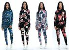 New Women's Ladies Tropical Floral Print Lounge Wear Co-Ord Set - UK Size 8-14