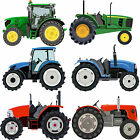 New Tractor Wall Stickers Set - Blue Red & Green Vehicle Truck JCB Digger Decals