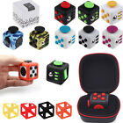 Anxiety Stress Relief Focus Fidget Cube Toys & Protective Cover Carring Case Bag
