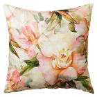 Scatter Box Lara Floral Digital Printed Feather Filled Cushion, Coral