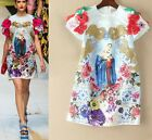 Free ship hot sale 2017 new arrival flower Mary gold Party Runway dress S M L XL