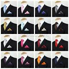 Kid Children Boys Premium Satin Tie Hanky Handkerchief Pocket Square Gift Set UK