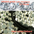 ss12 ss16 ss20 AAAAA Crystal Clear Hotfix Rhinestone Flatback Iron On glass bead