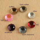 24p 10mm round flatback crystal glass Rhinestones jewels beads Multiple color