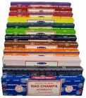 Pack of 12 Genuine Satya Nag Champa Incense Scented Sticks Joss 15g Scents Aroma