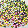 1440pcs Hot-Fix Iron-On Flat-Back Beads Rhinestones Rainbow Colorful SS16 4mm
