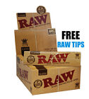 GENUINE RAW CLASSIC ROLLING PAPERS KING SIZE SLIM UNREFINED SKIN FREE TIPS