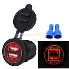 5V 4.2A Dual USB Port Mount Car Charger Socket Power Supply Adapter US