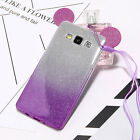 Cute Ear 2Layer Glitter Clear Soft Case Cover for Samsung Galaxy S5 S6 S7 A5 J5