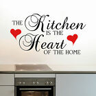 Kitchen Wall Sticker Quote Decal Wall Art Transfer Self Adhesive Easy To Apply