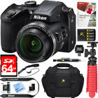Nikon COOLPIX B500 Digital Camera 16MP 40x Optical Zoom Wi-Fi Bonus 64GB Bundle