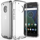 Fosmon for Moto G5 Plus G5 Slim Tough Shockproof Clear Bumper Case Cover Skin