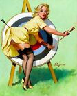 1950's Pin Up Girl Art Archery Poster A3 / A2 Print