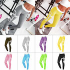 Womens Ladies Yoga Fitness Leggings Running Gym Stretch Sports Pants Trousers