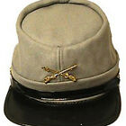 CSA Gray Wool Civil War Kepi Cap