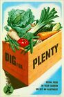 World War Two  Dig For Plenty Home Front Poster A3/A2/A1 Print