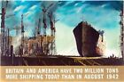World War Two British Ship Building Poster A3 / A2 Print
