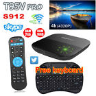 T95V PRO 2G 16G Android 6.0 TV box Octa Core S912 1000M LAN WiFi+ Free keyboard