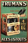 Vintage Trumans Ales Beer Advertising Poster A3/A2 Print