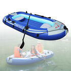 2-4 Person Kayak Inflatable Boat Dinghy Raft Canoe Fishing Boat + Oars+Pump USA