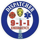 Dispatcher 911 Emergency Reflective Decal Sticker Police Fire EMS Rescue