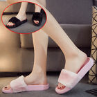 Womens Ladies Flat Slip Retro Style Faux Fur Sliders Pearl Sandals Slippers Size