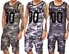 Basketball Trainingsanzug Shirt + Shorts Muskelshirt Axel Shirt Trainingsset