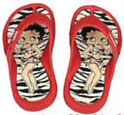 Girls/Ladies Red Betty Boop Flip Flops, NEW £4.99 GBP
