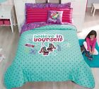Girls and Teens Twin and Full Skates Comforter Set with matching curtains