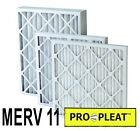 """(12 PACK) PLEATED MERV 11 FURNACE FILTERS EXTENDED SURFACE PRO-PLEAT 1"""" 2"""" 4"""""""
