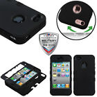 For Apple iPhone 4S / iPhone 4 Hybrid Shockproof Tuff Drop Protective Cover Case