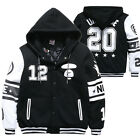 New Fashion Mens Hoodie Hooded Thicken Coat Jacket Sweatshirt Pullover Overcoat