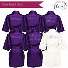 Personalised Satin robes,Bridal party Dressing Gowns set of 6 Bride,Bridesmaid