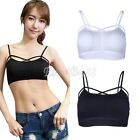 Women Stretch Workout Tank Crop Cami Top Racerback Fitness Yoga Padded Sport Bra