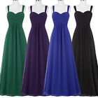 Long Formal Wedding Evening Ball Gown Party Prom Bridesmaid Dress UK Size 4~18