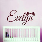 Personalized Name Wall Decals Bow Sticker Vinyl Decal Girl Nursery Bedroom MN42