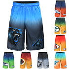 NFL Football Mens Gradient Big Logo Training Gym Shorts - Pick Team! on eBay