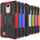 For LG Aristo / K8 2017 / LV3 Armor Shockproof Stand Protector Hybrid Cover Case