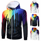 Men's Hoodies Sweatshirt Sportswear inkjet Sweatshirt zipper hooded sweater LAUS