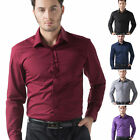 Fashion Men New Stylish Formal Business Slim Fit Shirt Long Sleeve Luxury Shirts