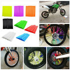 72PCS Universal Motocross Dirt Bike Enduro Wheel Rim Spoke Wraps Skins Covers