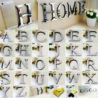 Faith Home Decor 26 Alphabet Letters 3D Dreamy Mirror Wall Sticker Acrylic Decals Wedding Decor  Home Decor With Mason Jars