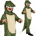 BOYS DINOSAUR FANCY DRESS COSTUME ANIMAL CROCODILE GIRLS CHILDS KIDS NEW OUTFIT