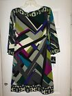BNWT STUDIO I Green/Multi Shift Dress Size 12 Women's
