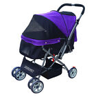 Chic Pet Stroller Small Dog Luxury Carrier Cat Sunshade Carriage Zipper Window